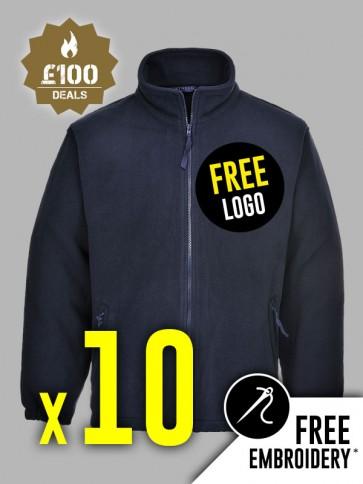 10 x Portwest Aran Fleeces