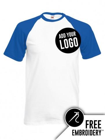 Fruit of the Loom Contrast Baseball T-Shirt