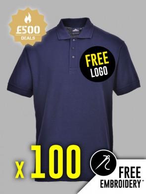 100 x Portwest Naples Polo Shirts