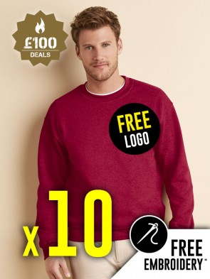 10 x Gildan Heavy Blend Sweatshirts