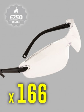 166 x Portwest Profile Safety Spectacles