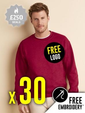 30 x Gildan Heavy Blend Sweatshirts