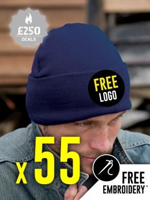 55 x Result Winter Essentials Woolly Ski Hats