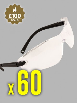 60 x Portwest Profile Safety Spectacles