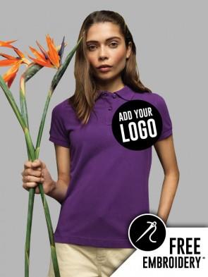 Asquith & Fox Ladies 100% Cotton Polo Shirt
