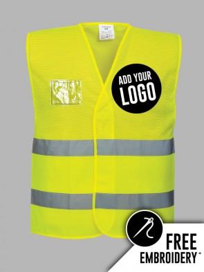 Portwest Hi-Vis Lightweight Mesh Vest