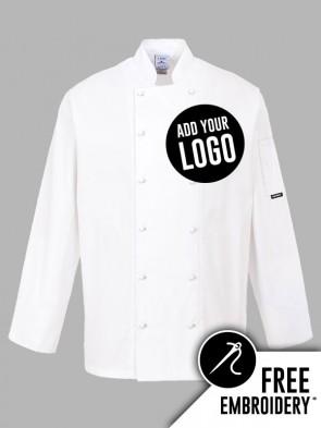 Portwest Norwich Popper 100% Cotton Chefs Jacket