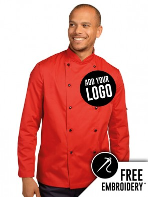 Dennys Technicolour Ring Stud Chefs Jacket