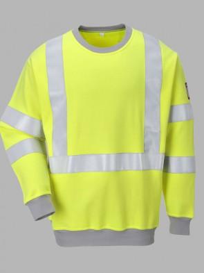 Portwest Modaflame Flame Resistant Anti-Static Hi-Vis Sweatshirt