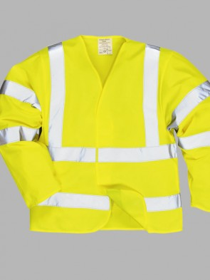 Portwest Bizflame Flame Resistant Long Sleeve Hi-Vis Vest