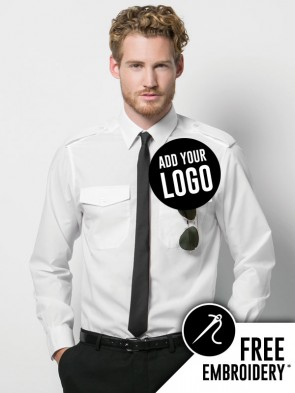 Kustom Kit Long Sleeve Pilot Shirt