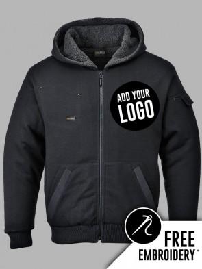 Portwest Pewter Fleece Lined Full Zip Hoodie