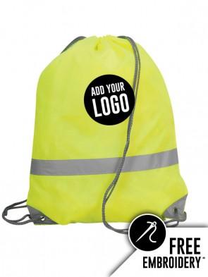 Shugon Stafford Hi-Vis Drawstring Tote Backpack