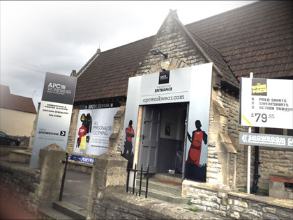 Our business frontage in Bristol