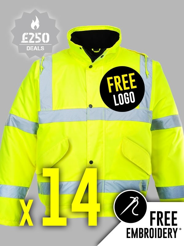 14 X Portwest Hi Vis Bomber Jackets Deals Hi Vis High