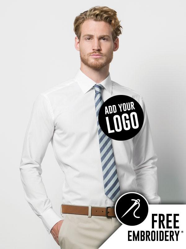 d789cc7166 Kustom Kit Slim Fit Long Sleeve Business Shirt