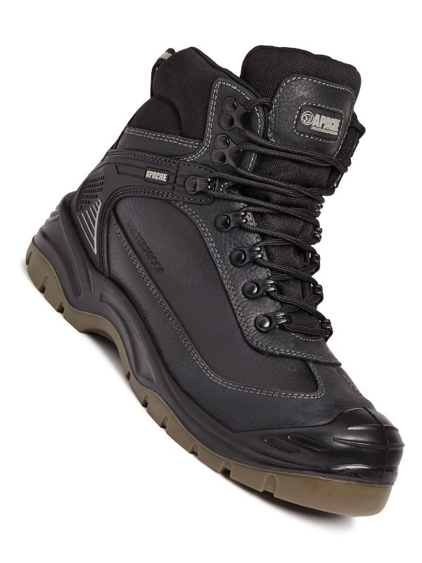 Apache Ranger S3 Waterproof Breathable Steel Toe Cap Safety Workwear Boot Brown