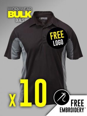 10 x Apache Dry Max Polo Shirts