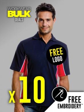 10 x Kustom Kit Contrast Polo Shirts