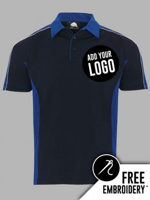 Orn Avocet 100% Polyester Contrast Wicking Polo Shirt