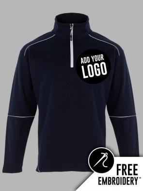 Orn Fireback Contrast Zip Neck Sweatshirt