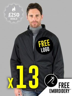 13 x Result Core Soft Shell Jackets