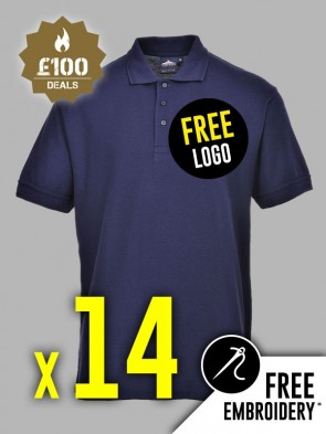 14 x Portwest Naples Polo Shirts