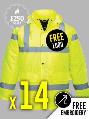 14 x Portwest Hi-Vis Traffic Jackets