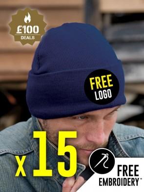 15 x Result Winter Essentials Woolly Ski Hats
