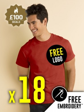 18 x Gildan Heavy Cotton T-Shirts