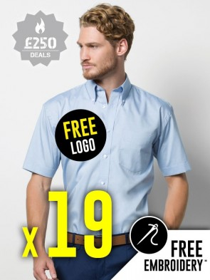 19 x Kustom Kit Short Sleeve Corporate Oxford Shirts