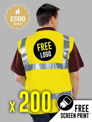 200 x Portwest Hi-Vis Vests