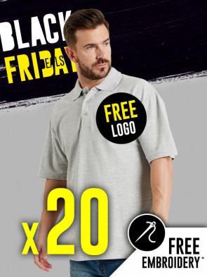 20 x Ultimate 50/50 Pique Polo Shirts