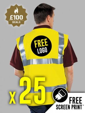25 x Portwest Hi-Vis Vests