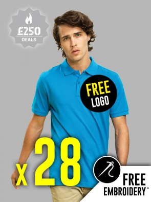 28 x Asquith & Fox 100% Cotton Polo Shirts