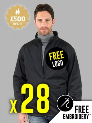 28 x Result Core Soft Shell Jackets