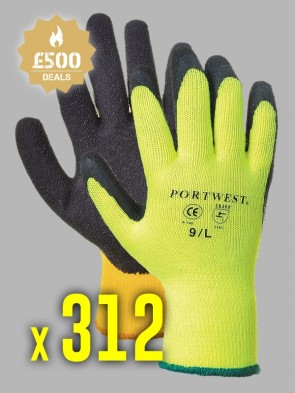 312 x Portwest Thermal Grip Latex Gloves