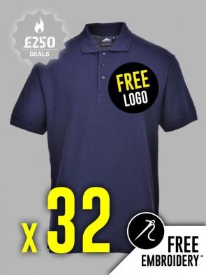 32 x Portwest Naples Polo Shirts