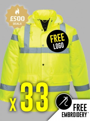 33 x Portwest Hi-Vis Traffic Jackets