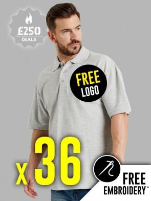 36 x Ultimate 50/50 Pique Polo Shirts