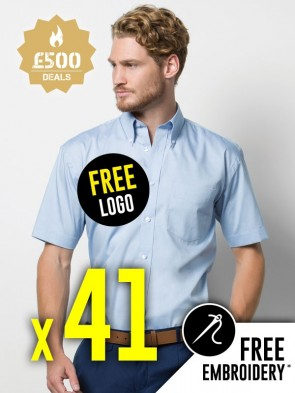 41 x Kustom Kit Short Sleeve Corporate Oxford Shirts