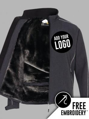 Orn Crane Contrast Fur-Lined Soft Shell Jacket