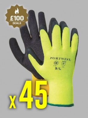 450 x Portwest Thermal Grip Latex Gloves
