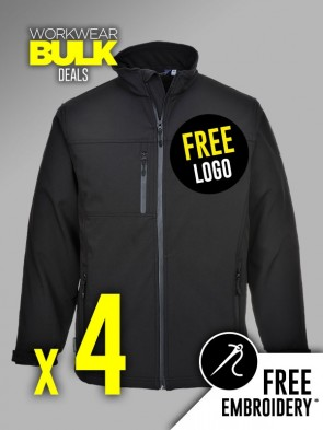 4 x Portwest Soft Shell Jackets