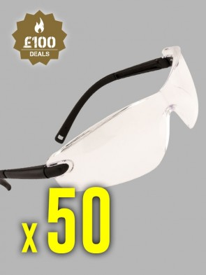 50 x Portwest Profile Safety Spectacles