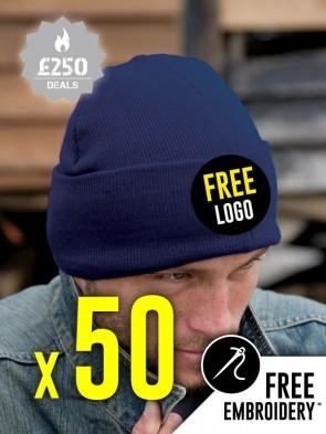 50 x Result Winter Essentials Woolly Ski Hats