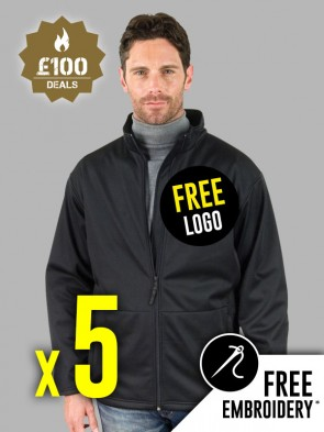 5 x Result Core Soft Shell Jackets