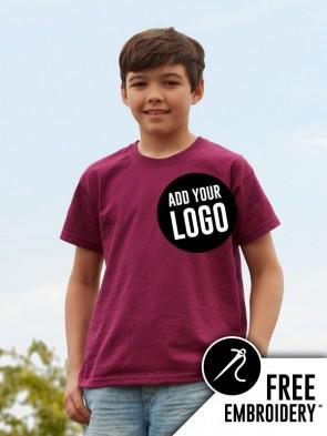 Fruit of the Loom Kids Original Leavers T-Shirt (Outlined)