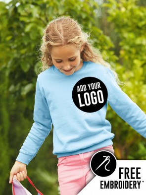 Fruit of the Loom Childrens Classic Set-In Sleeve Sweatshirt