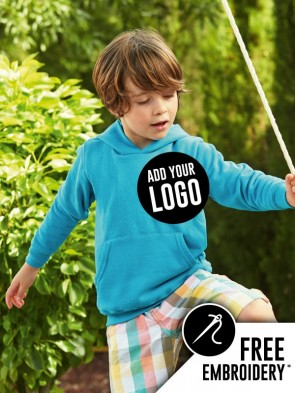 Fruit of the Loom Childrens Classic Leavers Hoodie (Outlined)